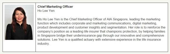 Ho Lee Yen AIA