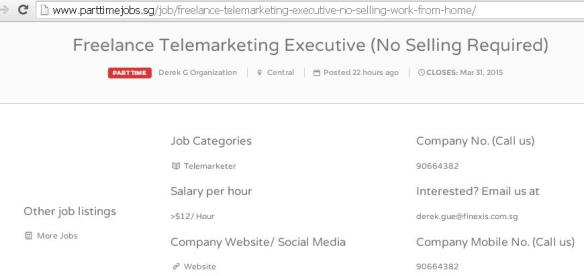 Part Time Jobs Sg