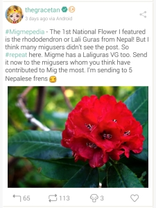 National Flower of Nepal repost