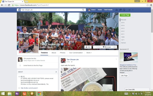 Tan Chuan Jin FB Page