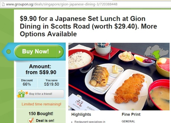 Groupon Gion Dining