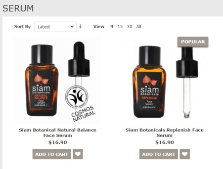 Siam Botanicals Face Serums