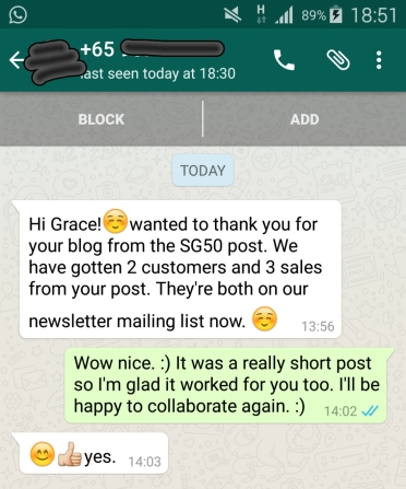 Blogger Grace Tan