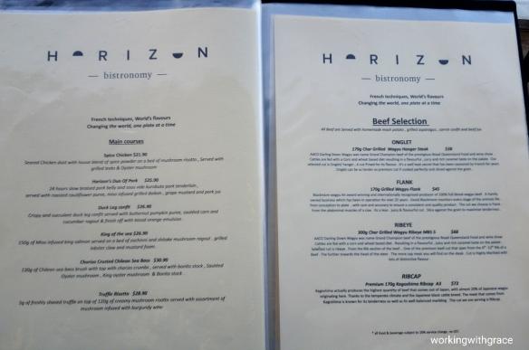 Horizon Bistronomy Menu