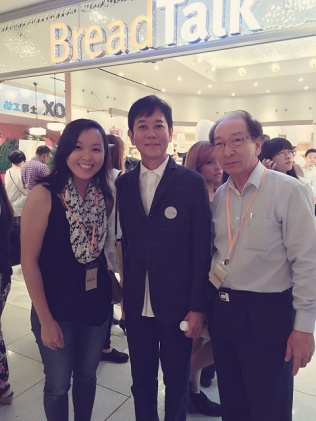 Blogger Grace Tan and BreadTalk Chairman George Quek