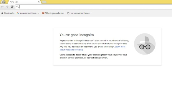 Google Incognito Window