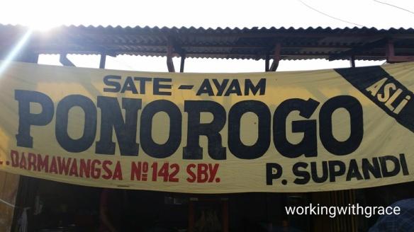 Sate Ayam Ponorogo Surabaya