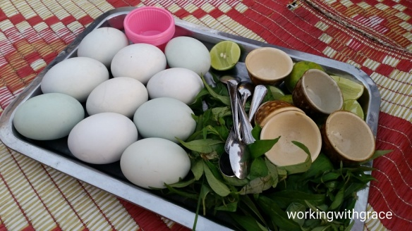 Balut at Phnom Penh Night Market