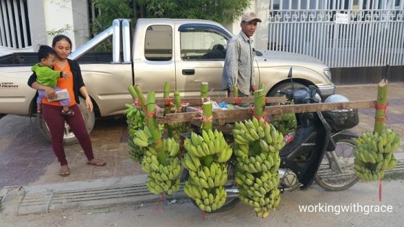 Cambodia Banana Seller