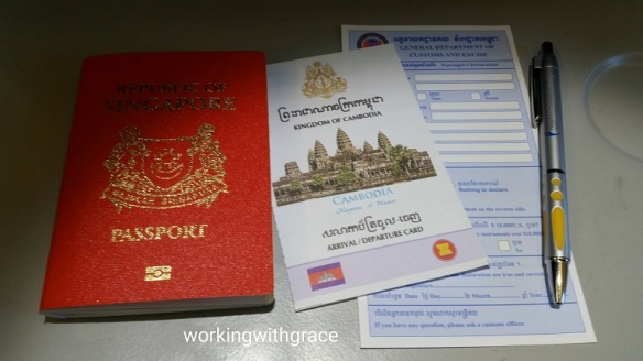 Cambodia Immigration Arrival Card