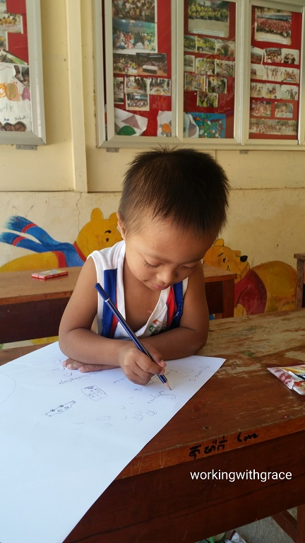 Cambodian child drawing