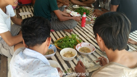 Cambodian Orphanage food