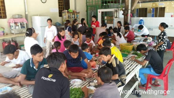 Cambodian Orphanage lunch