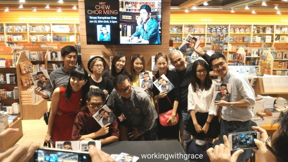 Medicacorp Artistes supporting Chew Chor Meng book launch