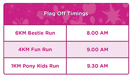 My Little Pony Run Flag Off Timing