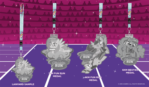 My Little Pony Run Medals