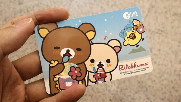 Rilakkuma EZ Link card in Singapore