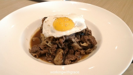 The French Table Teriyaki Beef with Rice and Sunny Side Up