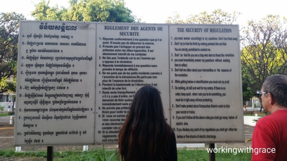 Tuol Sleng regulations for prisoners