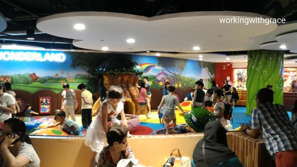 Waterway Point crowded indoor playground