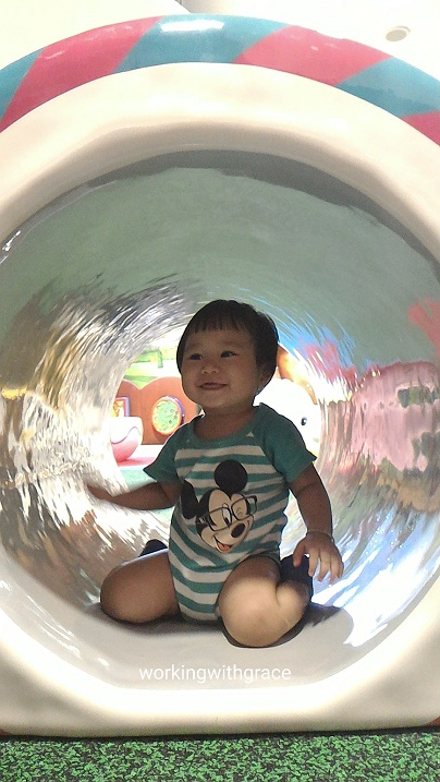 Waterway Point playground tunnel