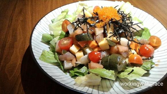 Babette Sashimi Salad