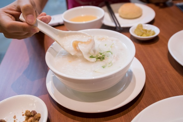 London Fat Duck Seafood Congee 'Ting Zai' style