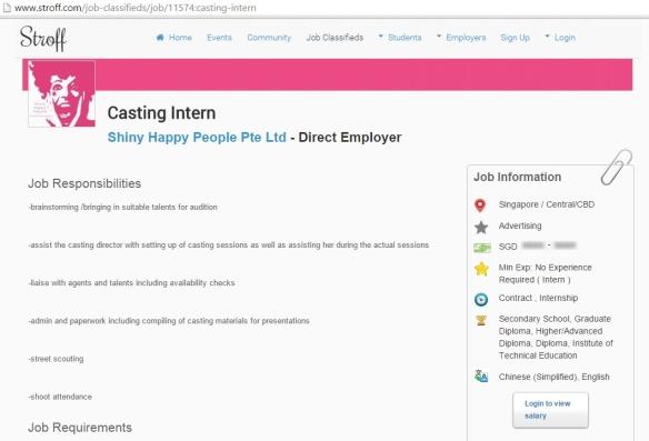 Casting Intern