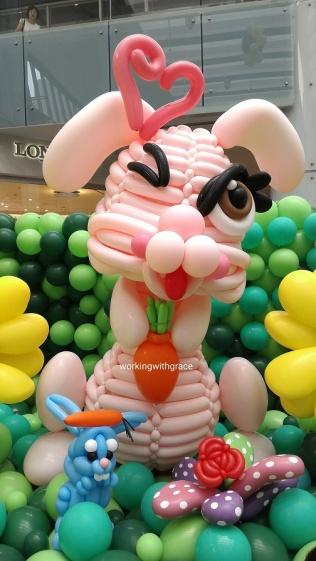 Rabbit Balloon Sculture