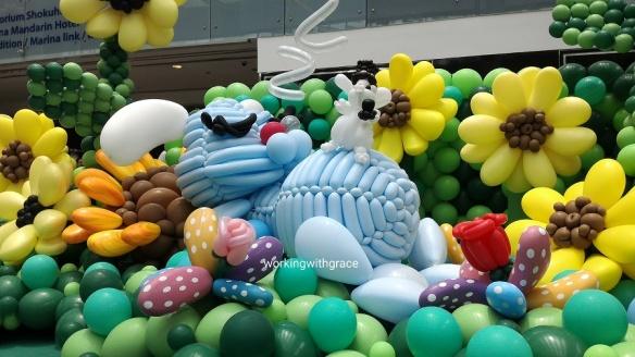 Sleeping Rabbit Balloon Sculpture