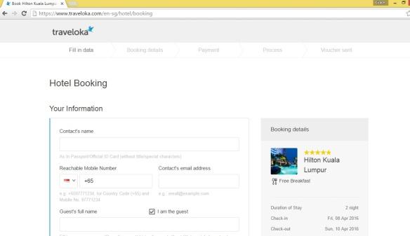 Traveloka booking
