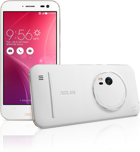 ZenFone Zoom White Front and Back