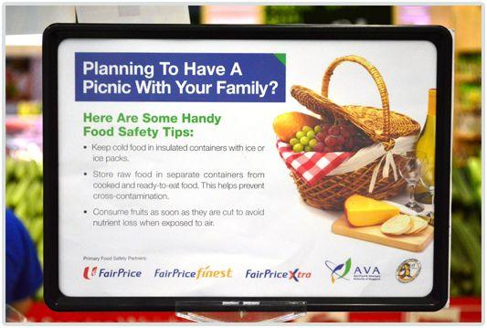 FairPrice food safety tips