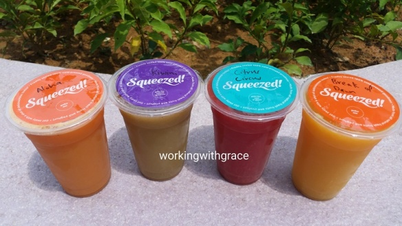 Squeezed cold press juices
