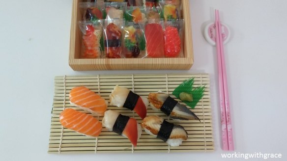 Sophisca Brown Rice Sushi Bento and real sushi