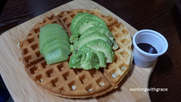 Tvoila Cafe waffle when served