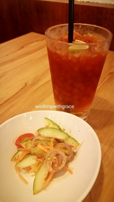 zakka modern thai salad thai lime tea