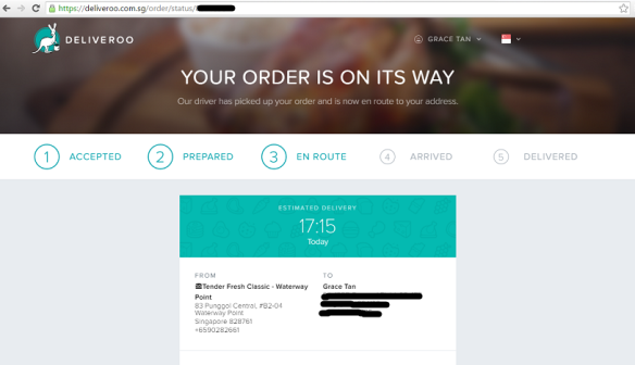 Deliveroo Order Status