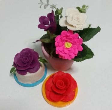 Playdoh flowers