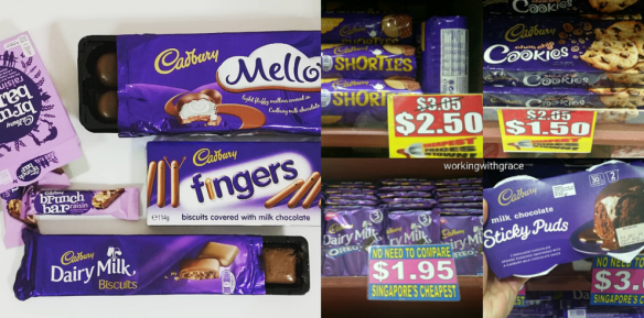 Singapore Cadbury chocolates