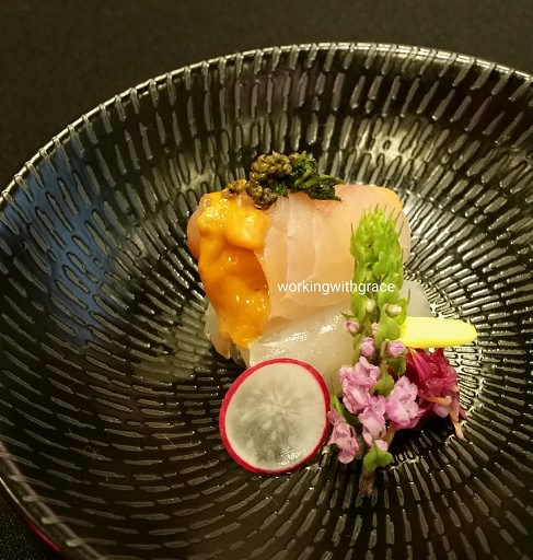 Kenjiro Hashida hirame sashimi
