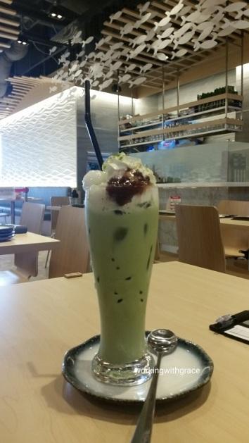 Sakana Matcha Azuki Shiratama Latte