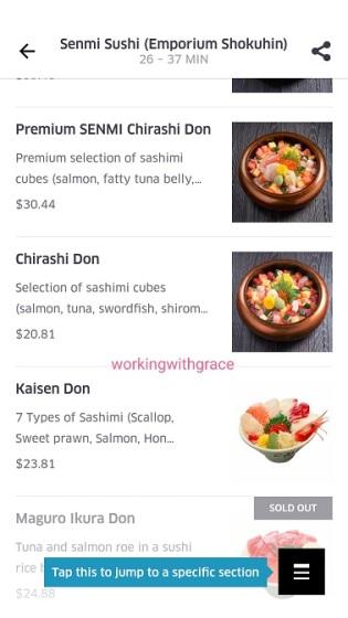 ubereats singapore menu