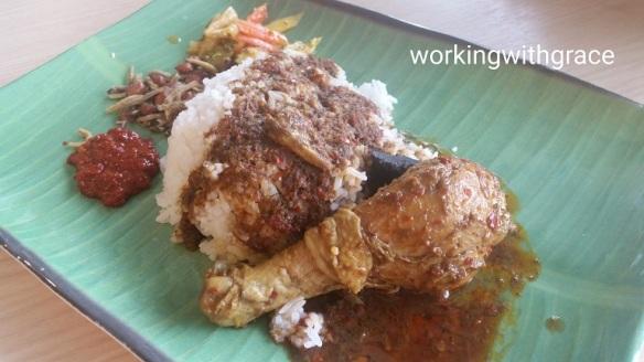 ayam keluak rice