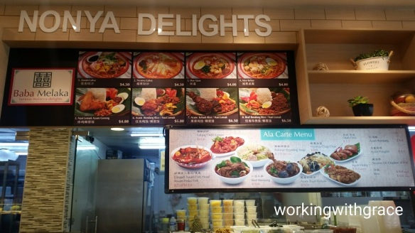Waterway Point foodcourt Nonya Delights