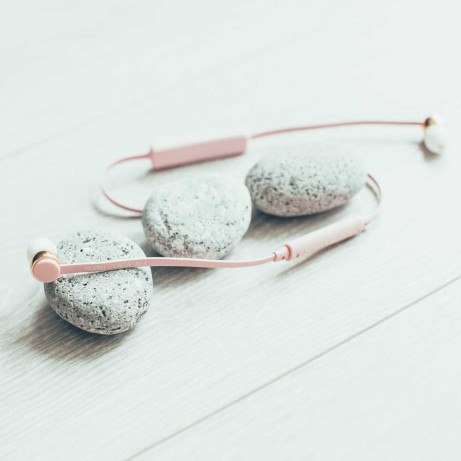 Sudio earphones pink