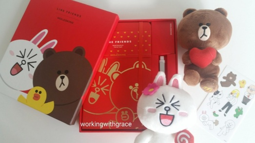 Line Friends Moleskine Notebook