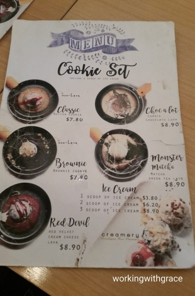 creamery boutique ice creams menu