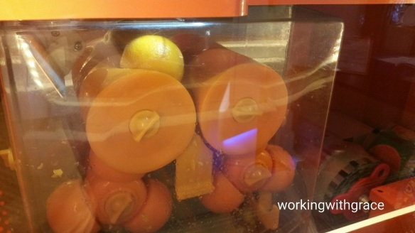 orange juice vending machine
