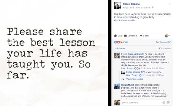 Robin Sharma Best Life Lessons